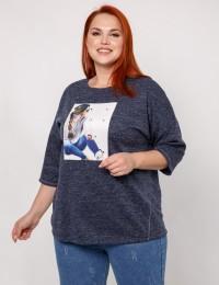 Блуза 0027-30_т.синий