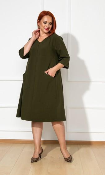 Платье 0134-1 хаки