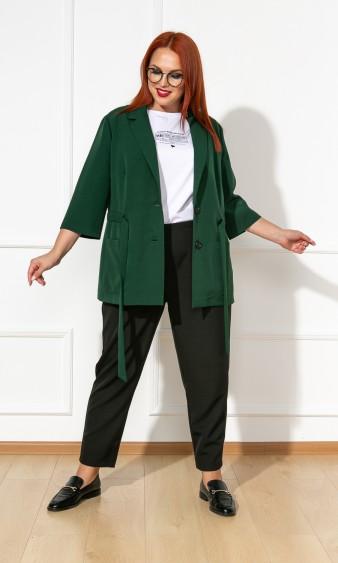 Жакет 0177-1 темно-зеленый