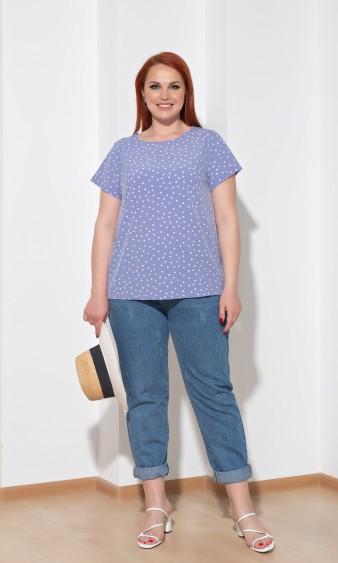 Блуза 0014-32 голубой