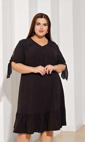 Платье 0028-14 чёрно-белый