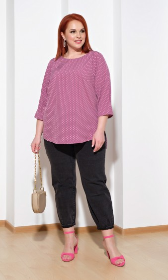 Блуза 0220-1 розовый