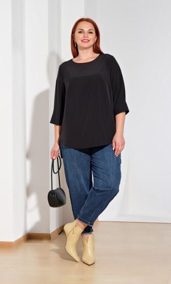 Блуза 0220-1 черный янтарь