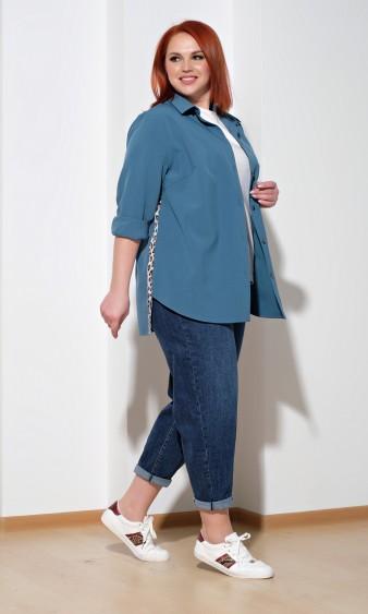 Рубашка 0199-1 серо-голубой