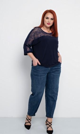 Блуза 0205-1 темно-синий