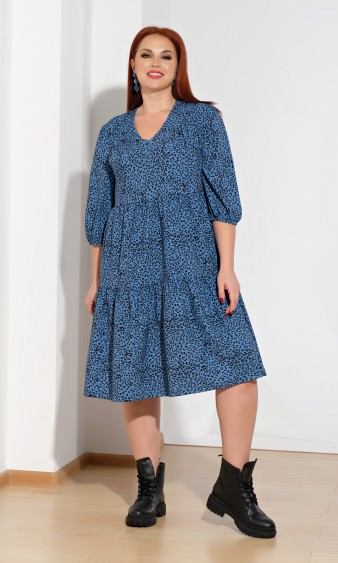 Платье 0060-23 темно-голубой