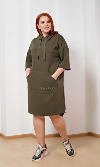 Платье 0125-7 оливковый