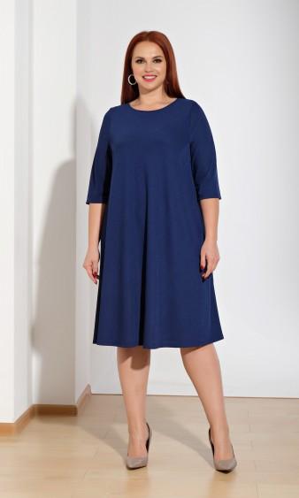 Платье 0033-27 темно-синий