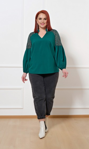 Блуза 0197-1 зеленый