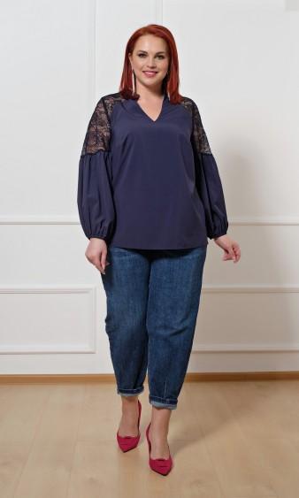 Блуза 0197-1 темно-синий