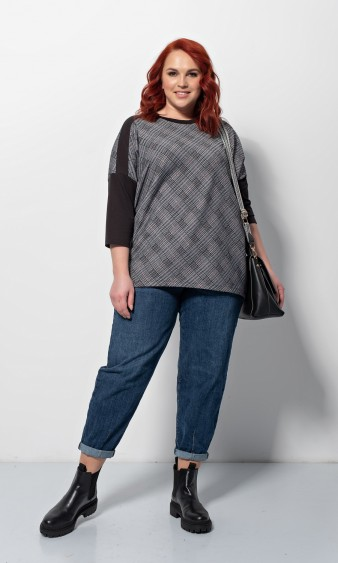 Блуза 0209-1 темно-серый