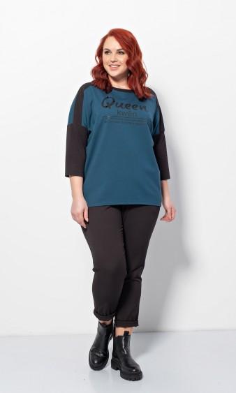 Блуза 0209-1 темно-бирюзовый