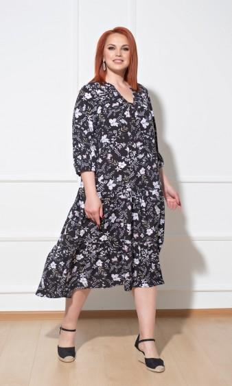 Платье 0165-1 черный