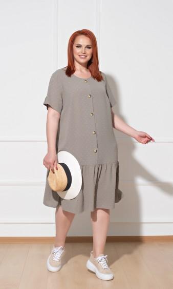 Платье 0176-2 оливковый