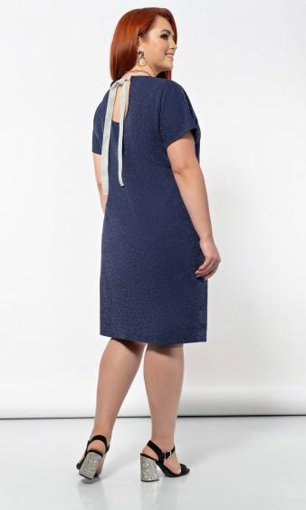 Платье 0183-1 темно-синий