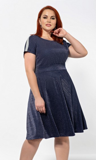 Платье 0198-1 синий