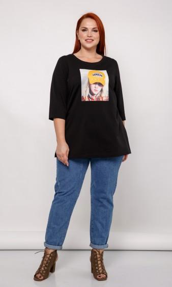 Блуза 0042-11 черно-желтый