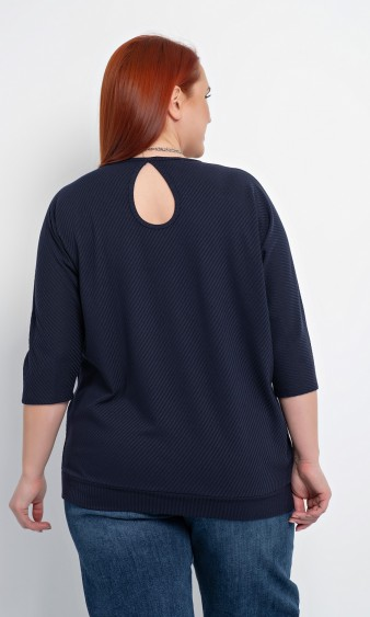 Блуза 0170-1 темно-синий