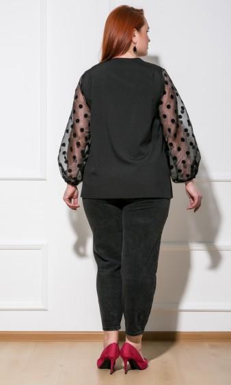 Блуза 0059-26 черный горох