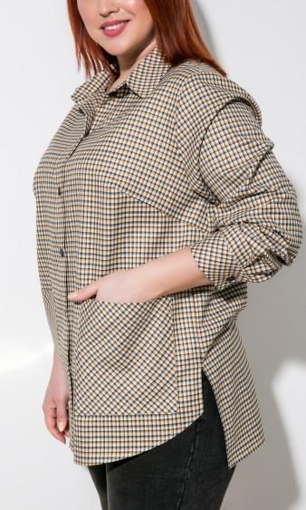 Рубашка 0199-1 бежевый