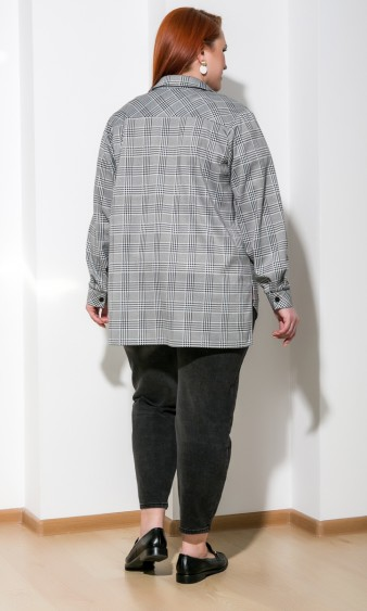Рубашка 0199-1 серый