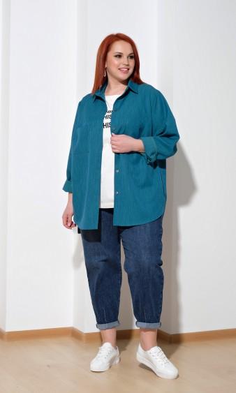 Рубашка 0199-1 темно-бирюзовый