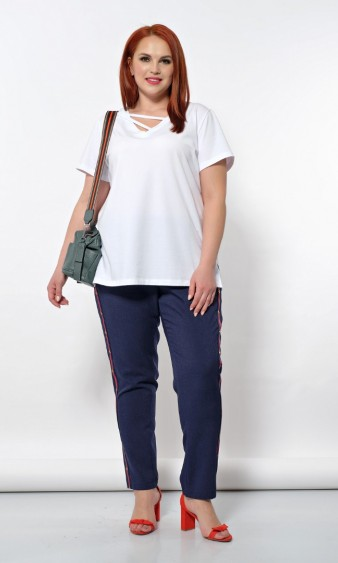Блуза 0172-2 белый