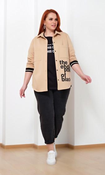 Рубашка 0222-1 бежевый