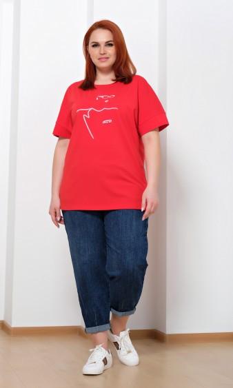 Джемпер 0111-6 красный
