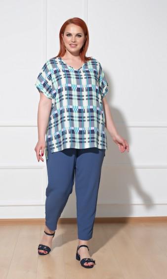 Блуза 0113-1 голубой