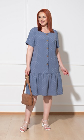 Платье 0176-2 темно-голубой