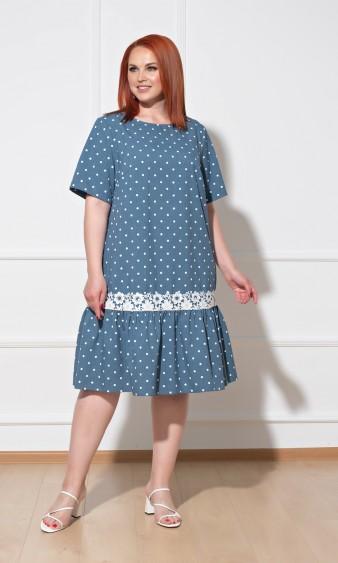 Платье 0091-9 темно-голубой