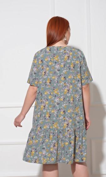 Платье 0091-21 зеленый