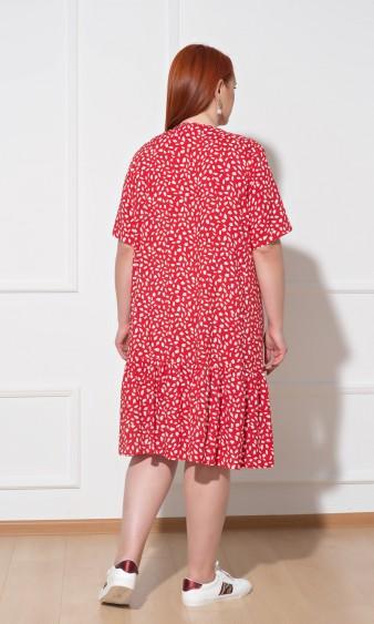 Платье 0091-21 красный