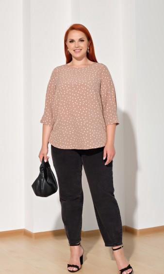 Блуза 0220-1 бежевый