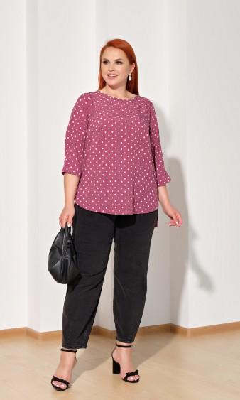 Блуза 0220-1 темно-розовый