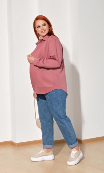Рубашка 0222-2 сливовый
