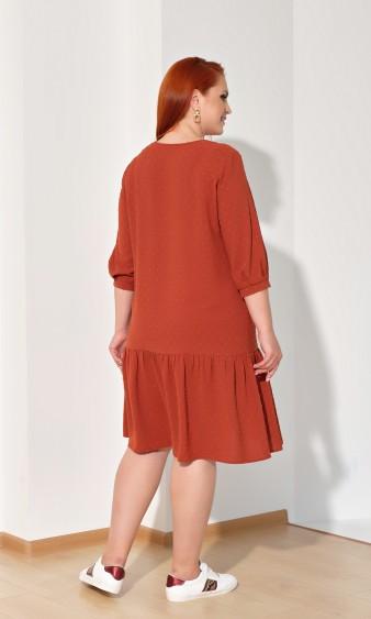 Платье 0176-2 терракотовый