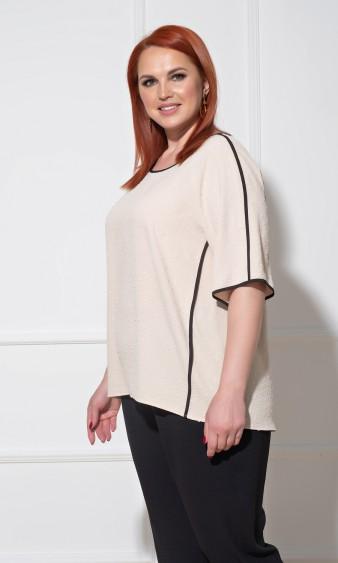 Блуза 0230-1 бежевый