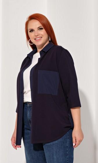 Рубашка 0237-1 темно-синий