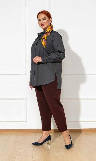 Рубашка 0199-2 темно-серый