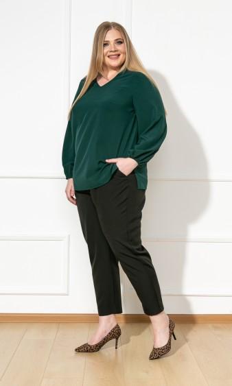 Блуза 0059-26 тёмно-зелёный