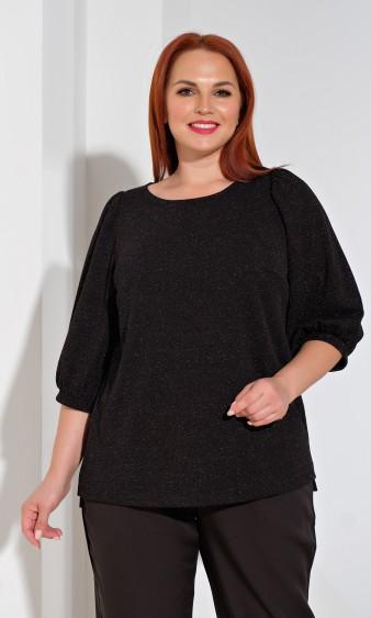 Блуза 0208-1 чёрный люрекс