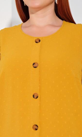 Платье 0176-2 горчичный