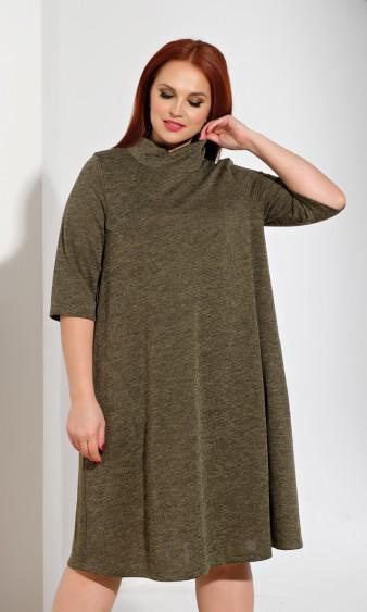 Платье 0238-1 хаки