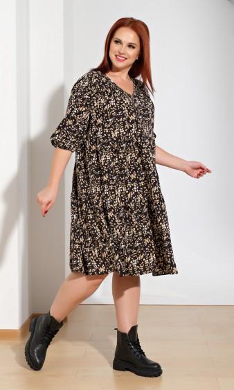 Платье 0060-23 черно-кофейный