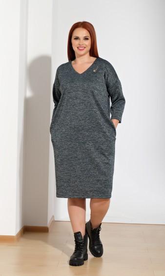 Платье 0050-9 зеленый меланж